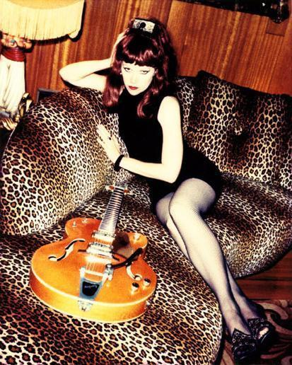 Ivy of the Cramps in her Los Angeles home.