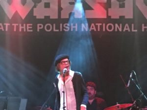 David Johansen singing at Warsaw.