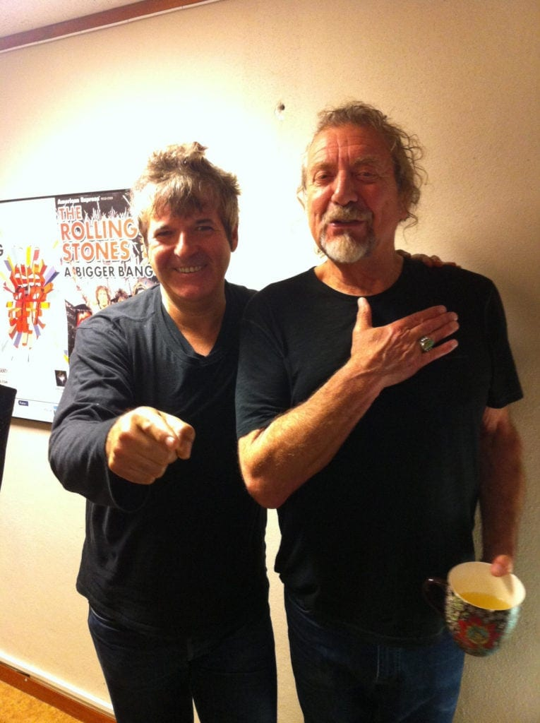 Clem Burke and Robert Plant - by Rick West
