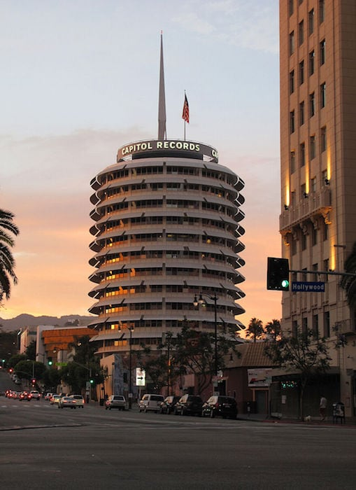 Capitol Records in Los Angeles - by Downtowngal via CC