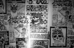 Old Suicidal Tendencies flyers, Photo by Rick Casados