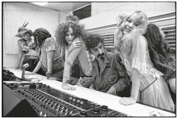 "Pamela Des Barres, Frank Zappa and the GTOs in a still from ""From Straight to Bizarre"""