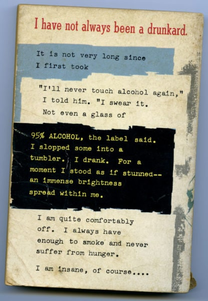 The Drinker- Back Cover